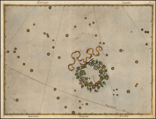 76-Celestial Maps Map By Johann Bayer