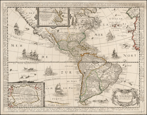 South America and America Map By Nicolas Berey