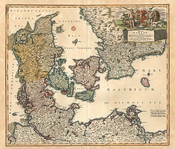 18-Europe, Germany and Scandinavia Map By Johann Baptist Homann