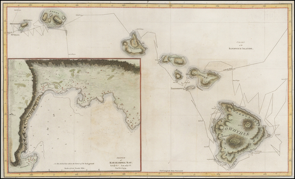 19-Hawaii and Hawaii Map By James Cook