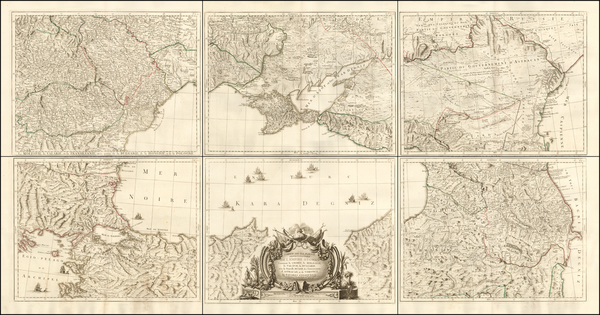 Russia, Ukraine, Hungary, Romania, Balkans and Turkey & Asia Minor Map By Giovanni Antonio Rizzi-Zannoni / Giovanni Antonio Remondini