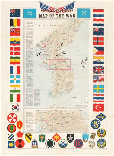 45-Korea and Pictorial Maps Map By Pacific Stars & Stripes