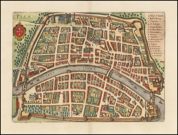 Other Italian Cities Map By Matthaus Merian