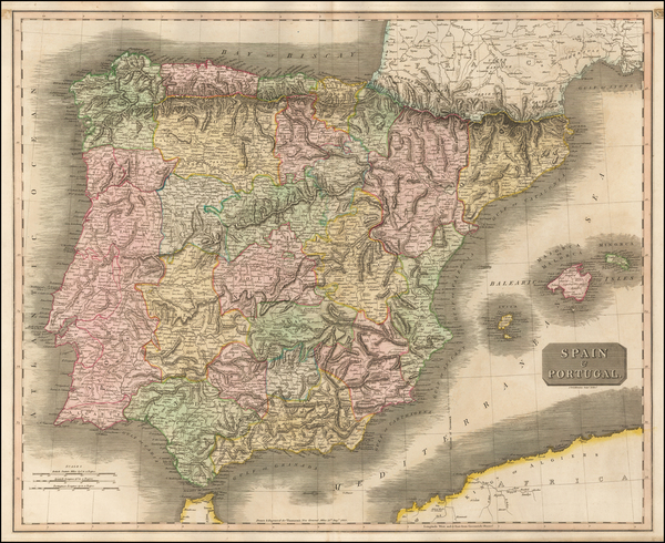 Spain and Portugal Map By John Thomson