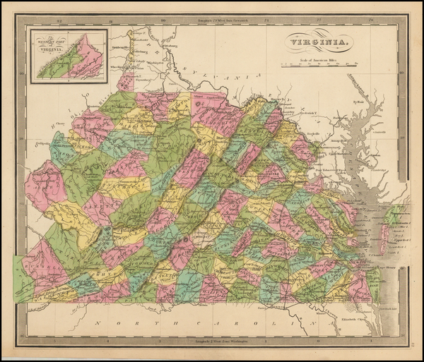 Southeast and Virginia Map By Jeremiah Greenleaf