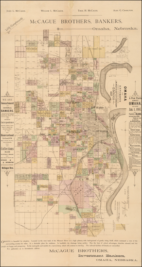 95-Nebraska Map By Everts & Kirk