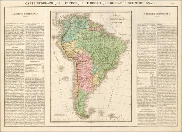 South America Map By Jean Alexandre Buchon