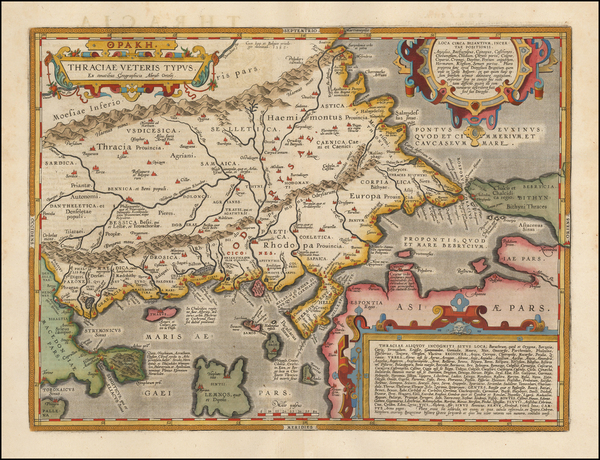 91-Greece, Turkey and Turkey & Asia Minor Map By Abraham Ortelius