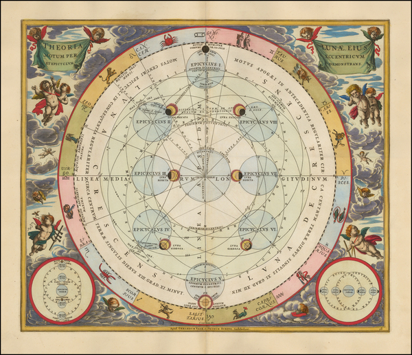 20-Celestial Maps Map By Andreas Cellarius
