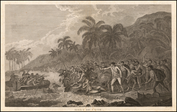 97-Hawaii and Hawaii Map By James Cook