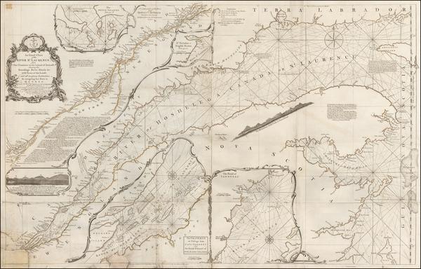 80-Canada Map By Thomas Jefferys
