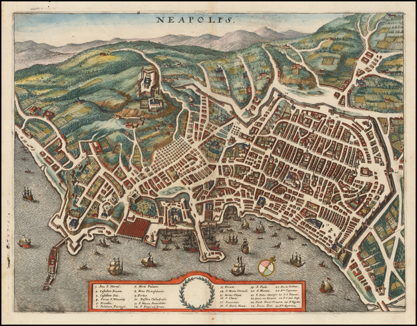 55-Other Italian Cities Map By Matthaeus Merian