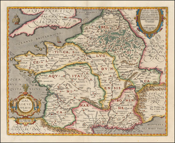 8-Switzerland, France and Italy Map By Abraham Ortelius