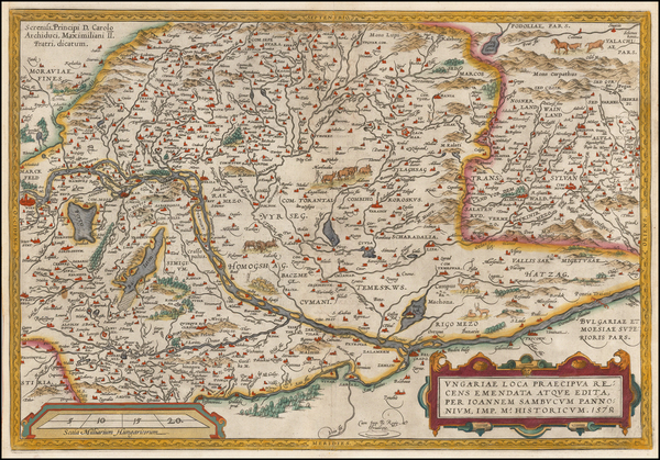 Austria, Hungary, Romania and Balkans Map By Abraham Ortelius