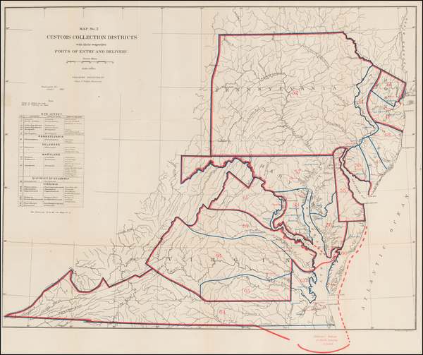 85-Mid-Atlantic and Southeast Map By United States Treasury Department