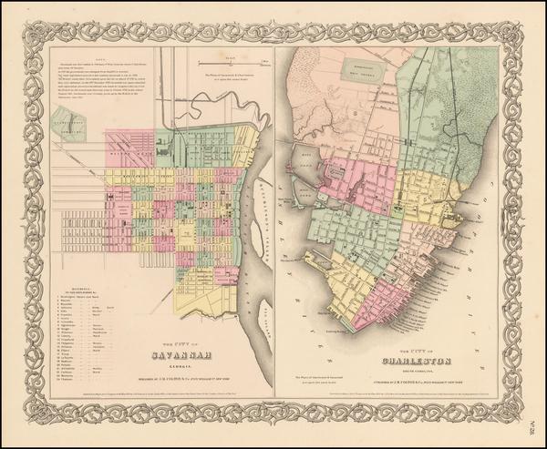 73-Georgia and South Carolina Map By Joseph Hutchins Colton