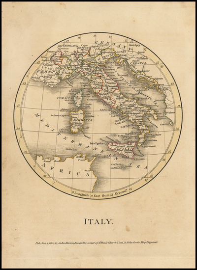 30-Italy Map By John Cooke