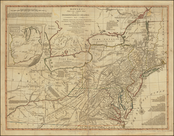 0-United States, New York State, Mid-Atlantic and Midwest Map By Carrington Bowles  &  Lewis