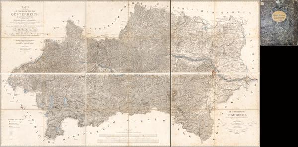 97-Austria Map By Ludwig Schmidt