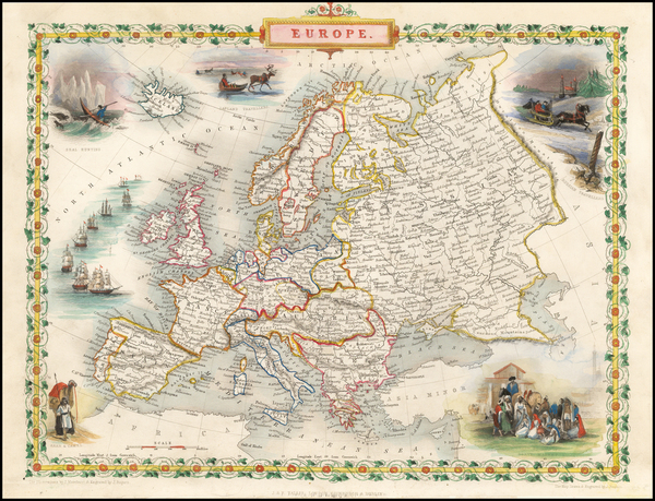 76-Europe and Europe Map By John Tallis