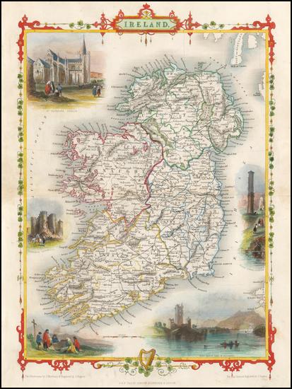 80-Ireland Map By John Tallis