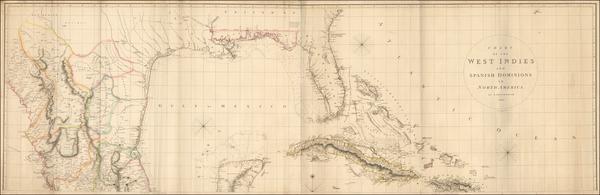 15-Florida, Southeast, Texas, Southwest, Mexico and Caribbean Map By Aaron Arrowsmith