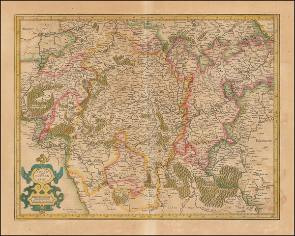 12-Luxembourg and France Map By  Gerard Mercator