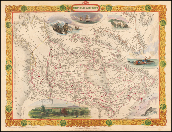3-Polar Maps, Alaska and Canada Map By John Tallis