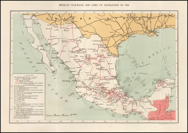 84-Mexico Map By United States GPO