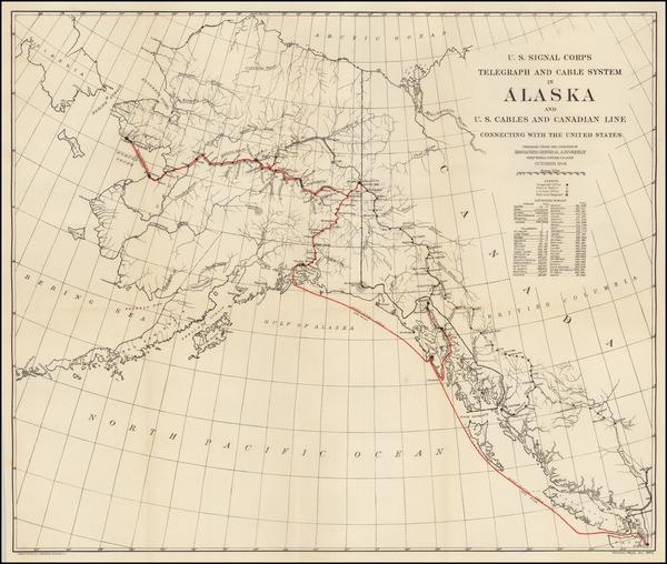 67-Alaska Map By United States GPO