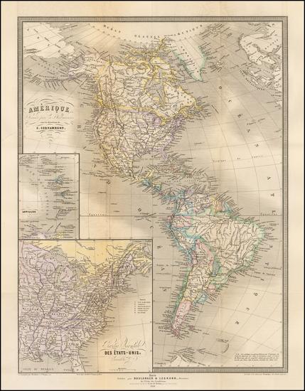 10-South America and America Map By E. Cortambert