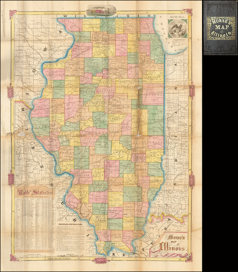 98-Illinois Map By Rufus Blanchard