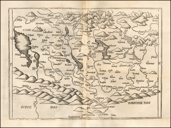 87-Switzerland Map By Lorenz Fries