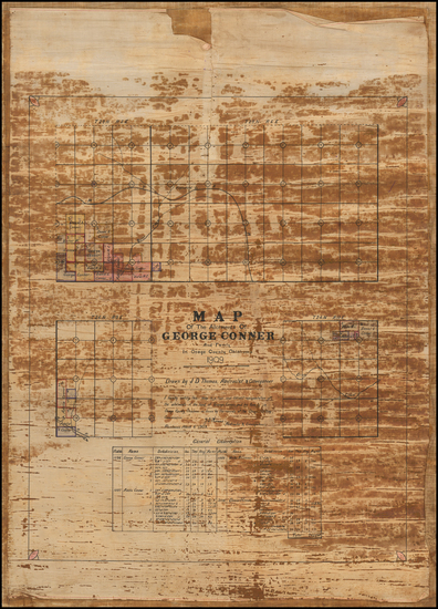 75-Plains and Oklahoma & Indian Territory Map By J.D. Thomas