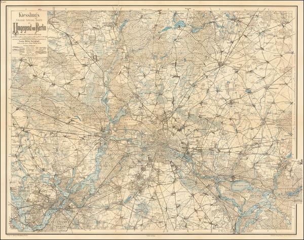 62-Germany Map By Alexius Kiessling