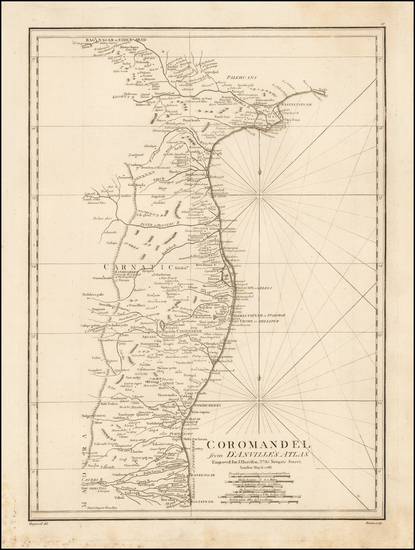 India & Sri Lanka Map By John E. Harrison