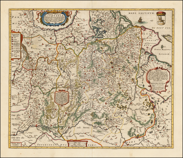 88-Poland, Ukraine and Baltic Countries Map By Johannes Blaeu