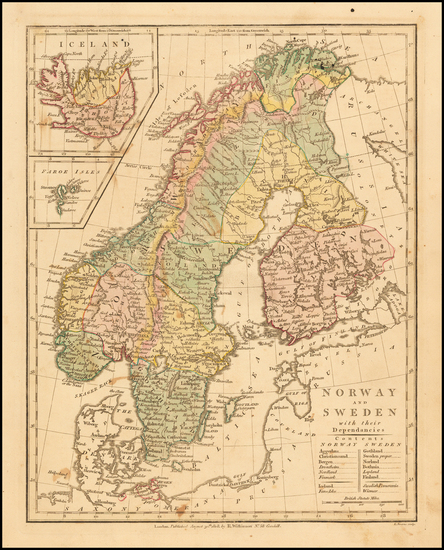97-Scandinavia and Iceland Map By Robert Wilkinson