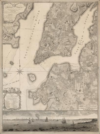 100-New York City and Mid-Atlantic Map By Bernard Ratzer
