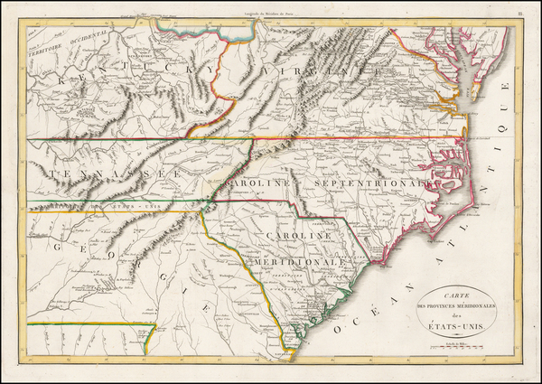 65-New England and Mid-Atlantic Map By Francois A.F. La Rochefoucault-Liancourt