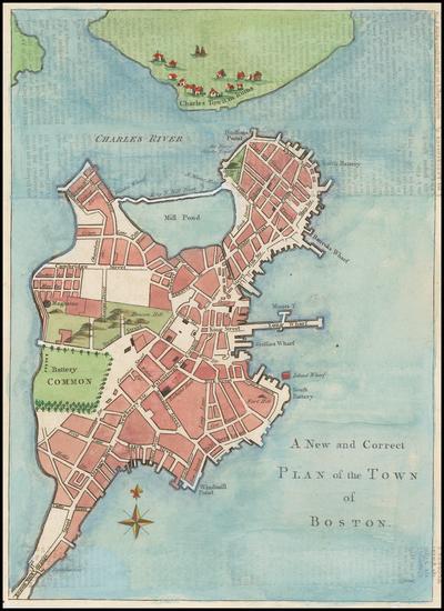 69-New England and Massachusetts Map By Gentleman's Magazine