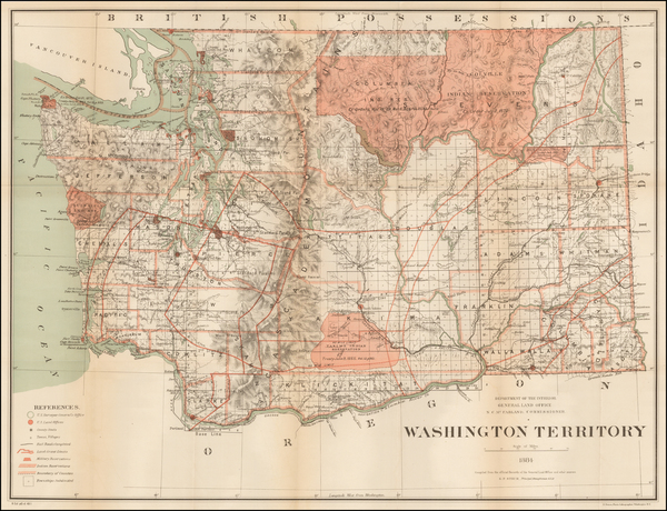 29-Washington Map By General Land Office