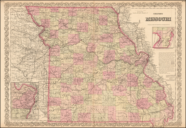 2-Plains and Missouri Map By G.W.  & C.B. Colton