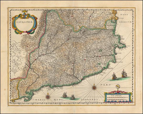 12-Spain Map By Willem Janszoon Blaeu