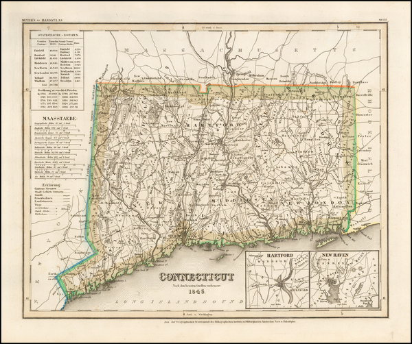 85-Connecticut Map By Joseph Meyer
