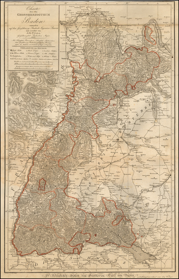 7-Germany Map By Johann G. Tulla