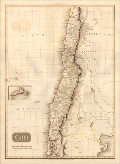 41-South America and Chile Map By John Pinkerton