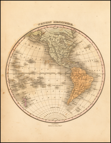 22-Western Hemisphere, South America and America Map By Anthony Finley