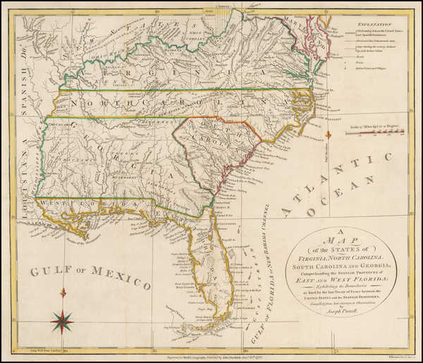 59-United States, Mid-Atlantic, South, Southeast and Midwest Map By Joseph Purcell