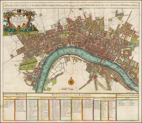 45-London Map By John Senex